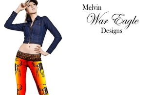 melvin War Eagle leggings native american art  art of where