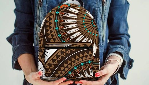 melvin war eagle native american designer backpacks at redbubble