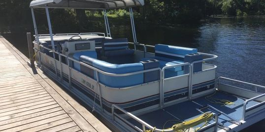 boat, pontoon, rental, sodus