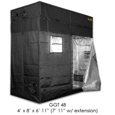 "Gorilla grow tent, GGT 48, 4' x 8' x 6'  11"" (7' 11'' w/ extension)"