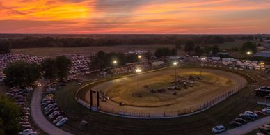 Aerial Photo at John Hinck Memorial Race 2018 in Sweet Springs, MO.