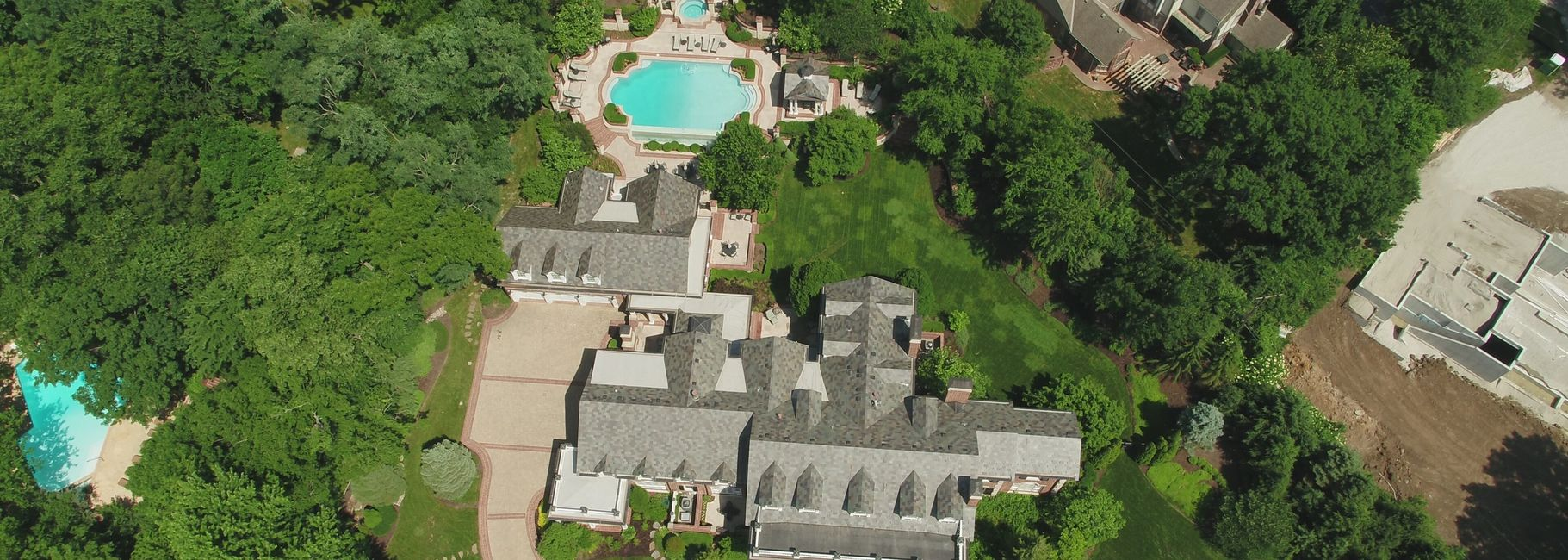 Drone On Demand Aerial Drone Photo of Residential Real Estate Listing in Mission Hills, Kansas