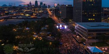 Aerial Photo at Irish Fest 2018 for O'Neil Events.