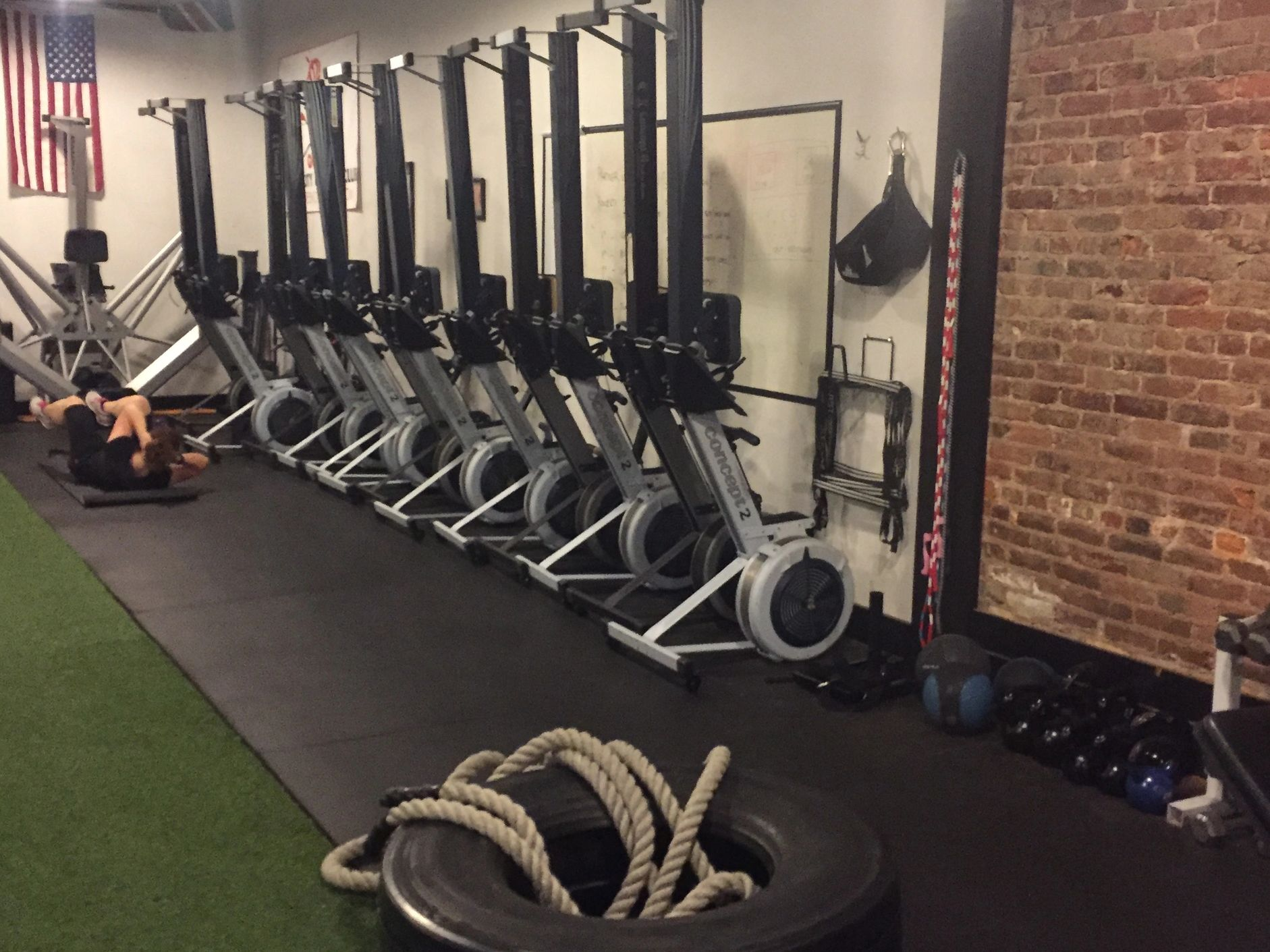 Open gym membership includes the use of rowing machines, weights, simulators and other
