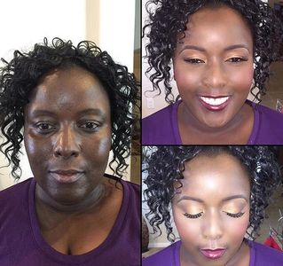 #beforeandafter bridal makeup glam beauty
