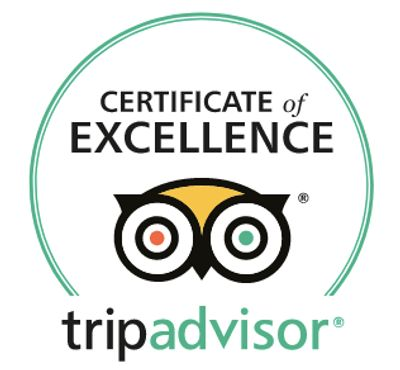 We are proud winners of TripAdvisor's Certificate of Excellence for 2017 and 2018.