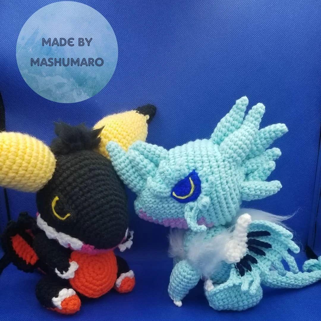 Nergigante | Monster Hunter World inspired | Amigurumi | Handmde | Plush |  | Crochet monsters, Monster hunter, Monster hunter world | 1080x1080