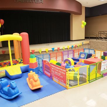 $339 4hours  Age 3 and under Soft Play Area and 6x6 bounce house ball pit with 2 rocking horses