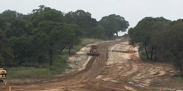 Land clearing and road development for neighborhood in Lavernia TX