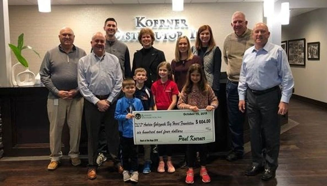 Koerner Distributor donated $600 from the Heart of the Hops Beer Festival in downtown Effingham to t