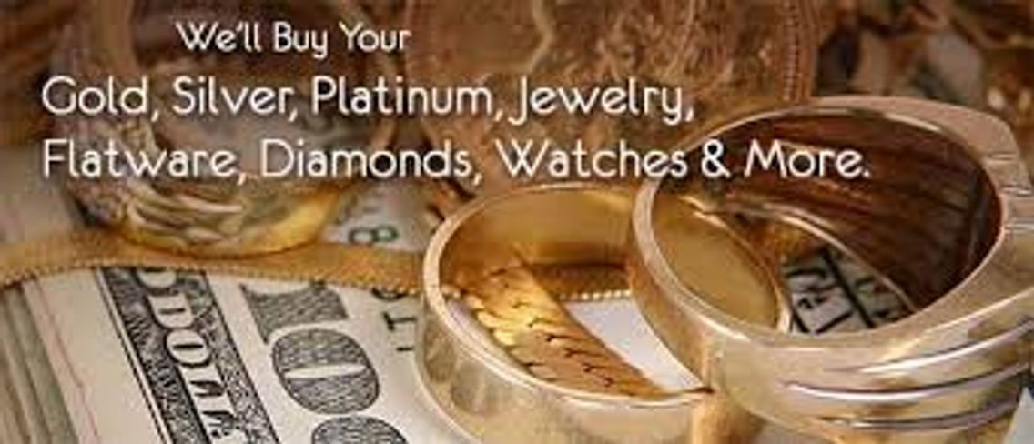 We buy gold, silver, platinum, jewelry and sterling flatware