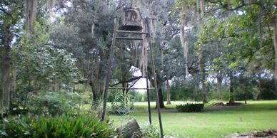slave bell on sugarcane plantation at Ardoyne in louisiana near new orleans