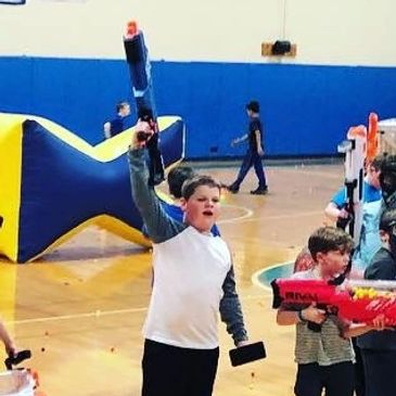 kids nerf party birthday summer camp gym rental fun idea church event des moines ames iowa blast