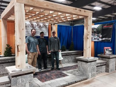Chris, Chad and Justin at the Orangeville Home & Garden Show in 2017.