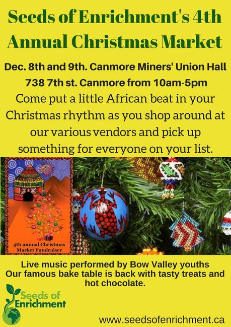 Save the date for our 4th annual Christmas Market Fundraiser!