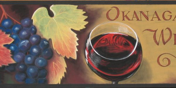 okanagan wines chalk art vineyard grapes