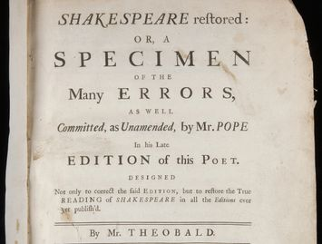 Title page of Shakespeare Restored, 1726