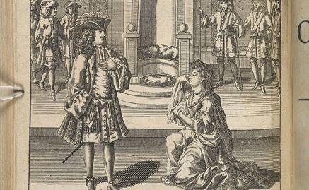 François Boitard engraving of Angelo and Isabella in MM