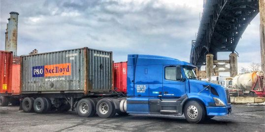 Trucking In New Jersey Terminals, Ports, transporting, loads, Dray-age, FCL, Tractors, Chassis,