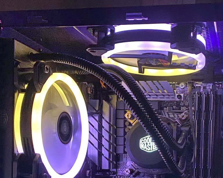 Custom Gaming Liquid Cooled CPU and DDR4 RAM with RGB Lighting