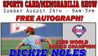 Dickie Noles, phillies autogaph signing