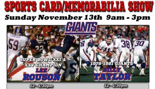 Lee Rouson, Billy Taylor NY Giants autograph signing