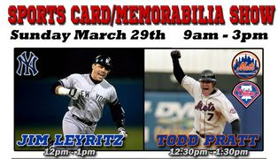 Todd Pratt, Mets and Jim Leyritz, Yankees autograph signing