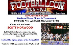 Scott Norwood, Bills Giants autograph signing