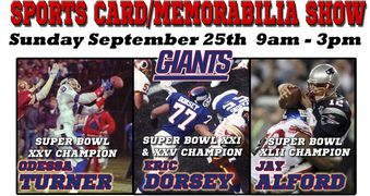 Odessa Turner, Jay Alford, Eric Dorsey NY Giants autograph signing
