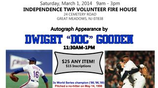 "Dwight ""Doc"" Gooden, mets and yankees autograph signing"