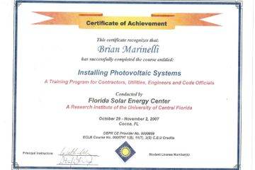2007 Florida Solar Energy Center Installer Training