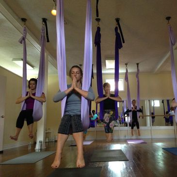 4 Week Intro to Aerial Yoga at Elevate Yoga Pittsburgh is a great place to start your aerial yoga practice to get comfortable taking regular weekly classes.
