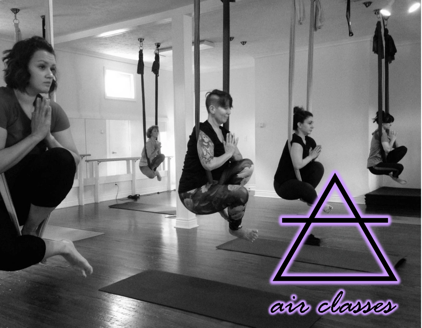 Aerial Yoga at Elevate Yoga Pittsburgh in Imperial, PA