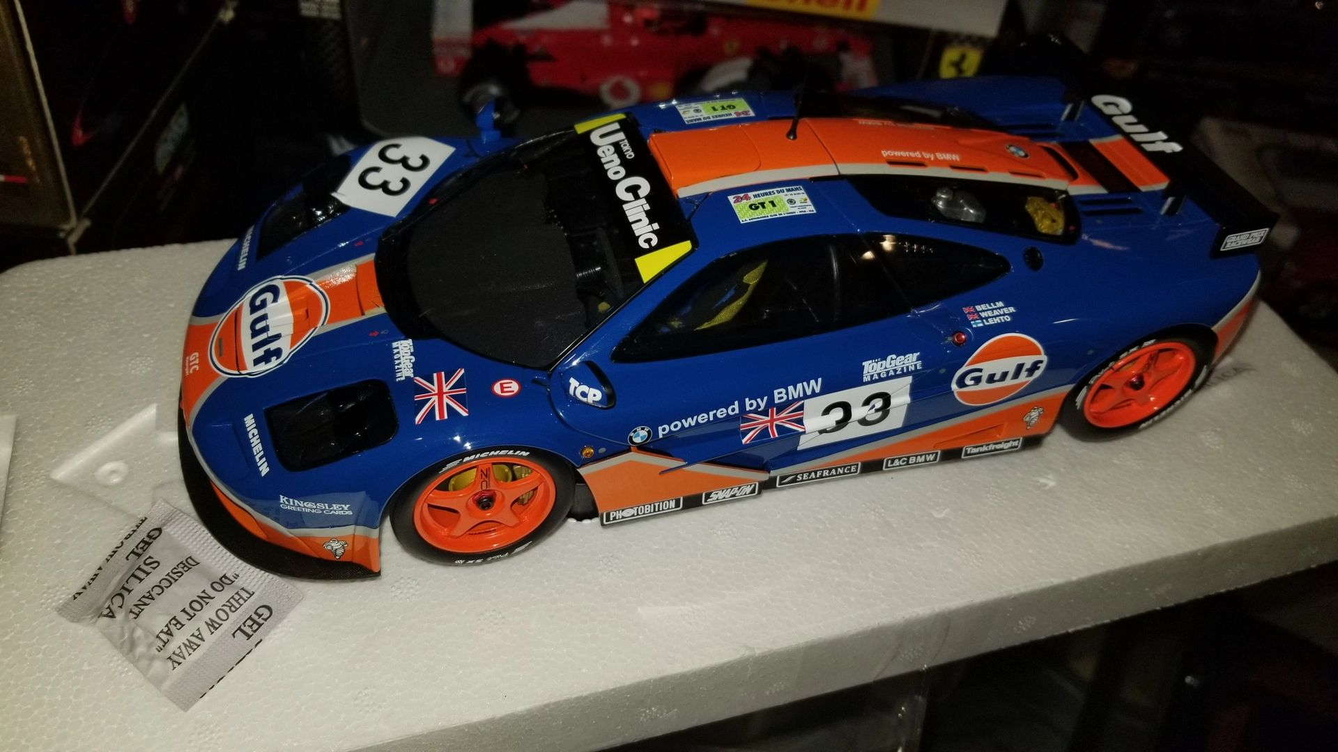 "{""blocks"":[{""key"":""8slf3"",""text"":"" 1/18 Minichamps McLaren F1 GTR #33 GULF Racing (Limited production Run 304 Pieces World wide) "",""type"":""unstyled"",""depth"":0,""inlineStyleRanges"":[],""entityRanges"":[],""data"":{}}],""entityMap"":{}}"