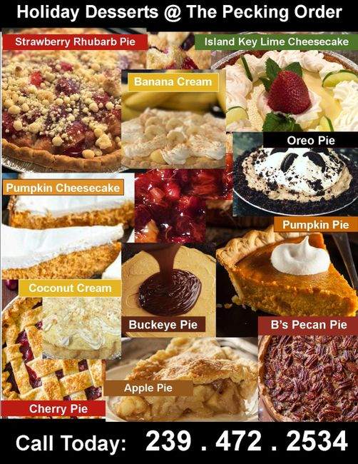 Place your holiday dessert order today!