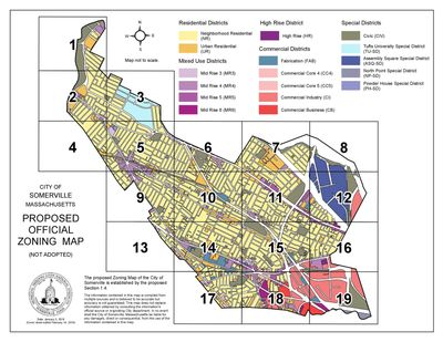 Proposed Zoning Map (all RB zoning removed)