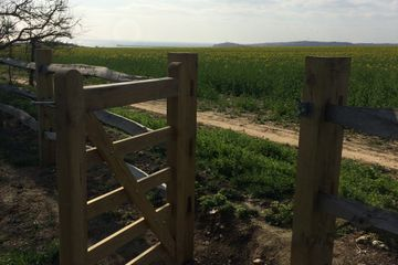 photo of gate to south downs national park