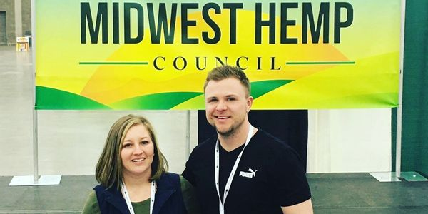 Co-Founders Kelly & Joe Linne of Hoosier Hempster Dispensary. 2020 National Hemp Expo