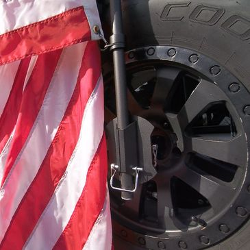 Jeep flag mount