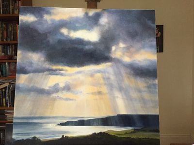 Oil Painting of Lunan Bay on the Angus Coast 70cm x 70cm