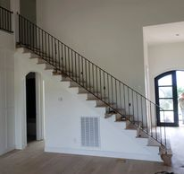 Powder coated interior handrail