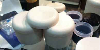 Molding cosmetic jars with FibreTuff