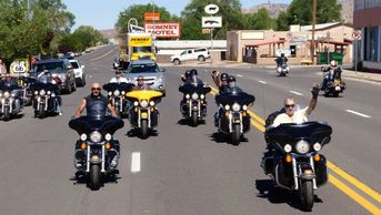 Ride, Ride, Ride. Route 66 is made for a motorcylce. Many American and foreign tourists Ride 66