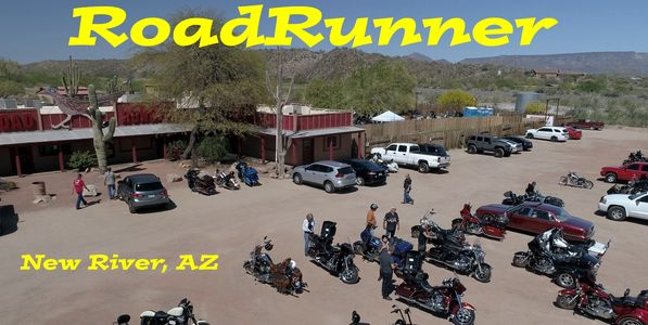 Motorcycle events are routine at the Roadrunner Restaurant and Saloon in Arizona.