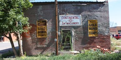 Old buildings that were thriving prior to the bypass of Route 66 by the Interstate.