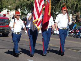 Honoring Veterans with the Marine Corps Color Guard in Phoenix, Arizona.
