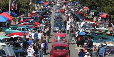Retro and Custom car shows are a fun attraction on Historic Route 66 California.