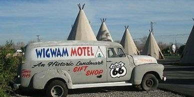 Wigwam Motel in Rialto, California is a iconic Route 66 California travel stop.