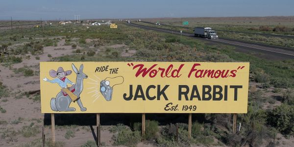 The World Famous Jackrabbit Trading Post in Arizona was an inspiration for the movie Cars.
