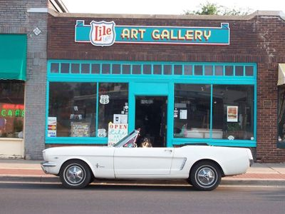 One of the many art galleries in the Amarillo Historic Route 66 District. Visit the restaurants.